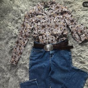 Western button down shirt